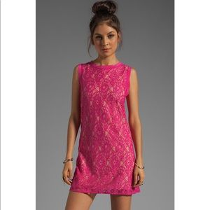 Joie Isette Pink Lace Sleeveless Dress